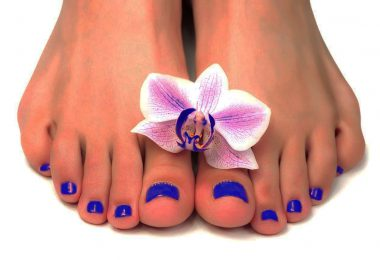 Flower Toenail Designs